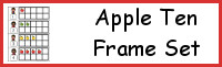 Apple Ten Frame Set