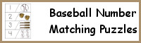 Baseball Number Matching Puzzles