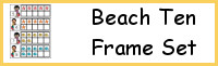 Beach Ten Frame Activities (1-20)