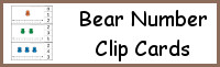 Bear Number Clip Cards