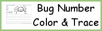 Bug Themed Number Color & Trace