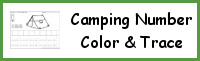 Camping Themed Number Color & Trace