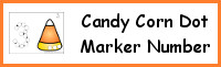 Candy Corn Number Dot Marker & Counting