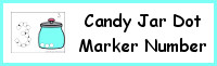 Candy Jar Number Dot Marker & Counting