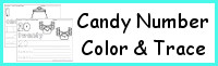Candy Themed Number Color & Trace