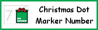 Christmas Number Dot Marker & Counting
