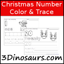 Christmas Number Number Color & Trace