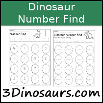 Dinosaur Number Find Sample