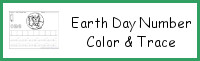 Earth Day Themed Number Color & Trace