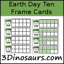 Earht Day Ten Frame Cards
