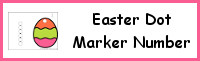 Easter Egg Number Dot Marker & Counting