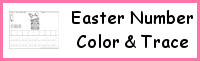 Easter Themed Number Color & Trace