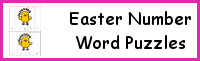 Easter Number Word Puzzles