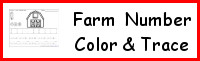 Farm Themed Number Color & Trace