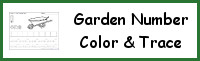 Garden Themed Number Color & Trace