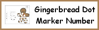 Gingerbread Number Dot Marker & Counting