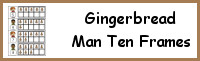 Gingerbread Man Ten Frame Activities