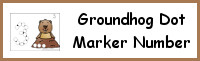 Groundhog Number Dot Marker & Counting