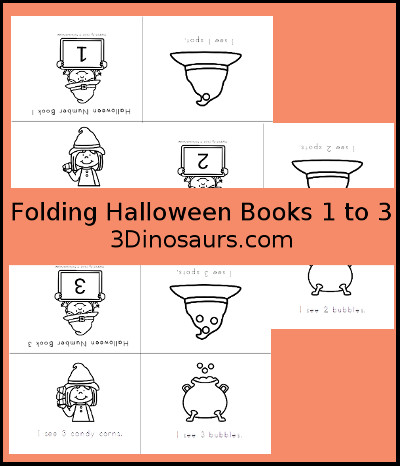 Halloween Number Books 1 to 3 - 3Dinosaurs.com