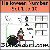 Halloween Number Set 1 to 10