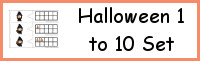 Halloween Themed Number Set 1 to 10