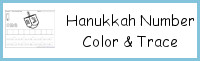 Hanukkah Themed Number Color & Trace