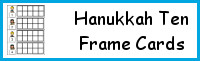 Hanukkah Ten Frame Cards