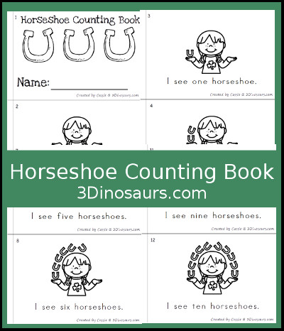 Horseshoe Counting Book - 3Dinosaurs.com