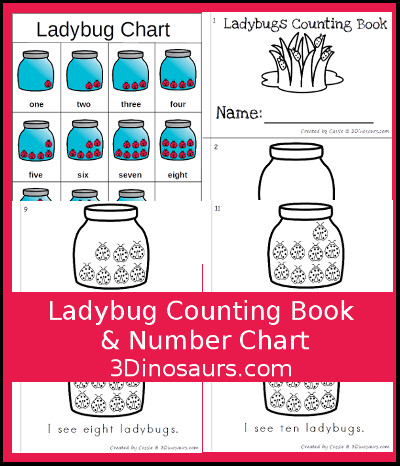Bug Counting Book & Chart - 3Dinosaurs.com