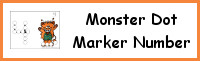 Monster Number Dot Marker & Counting