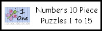 Number 10 Piece Puzzles 1 to 15
