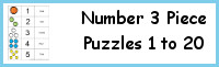 Number 3 Part Puzzles 1 to 20