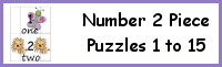 Number 4 Piece Puzzles 1 to 15
