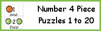 Number 4 Piece Puzzles 1 to 20