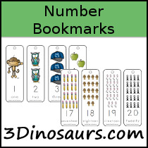 Number Bookmark