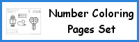 Number Coloring Pages Set