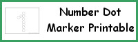 Number Dot Marker Printable