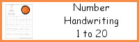 Number Handwriting Printable 1 to 20