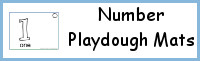 Number Playdough Mat: 1 to 20