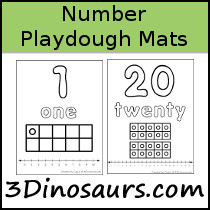 Number Playdough Mat Sample