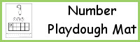 Number Ten Frame Playdough Mat