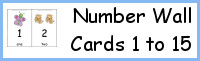 Number Wall Cards 1 to 15