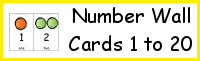 Number Wall Cards 1 to 20