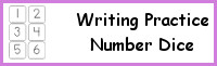 Writing Practice Number Dice