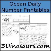 Ocean Daily Themed Number Sample