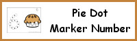 Pie Number Dot Marker & Counting