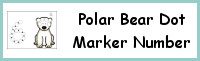 Polar Bear Number Dot Marker & Counting