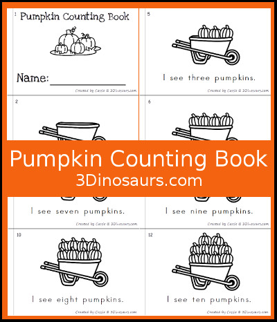 Pumpking Counting Book - 3Dinosaurs.com