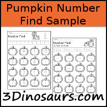 Pumpkin Themed Number Find Sample