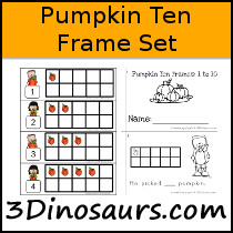 Pumpkin Ten Frame Set